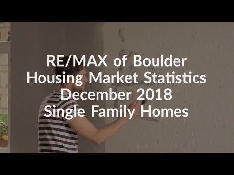 REMAX of Boulder Housing Market Statistics December 2018 – Single Family Homes