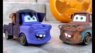 Custom Disney Cars Dracula Mater - Family Toy Review HALLOWEEN Special for Kids - Disneyland Mater