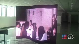 Гибкий светодиодный экран – демонстрация работы(Демонстрация работы гибкого светодиодного экрана (Flexible LED screen demo). Купить гибкий экран можно в компании..., 2016-03-02T06:11:21.000Z)