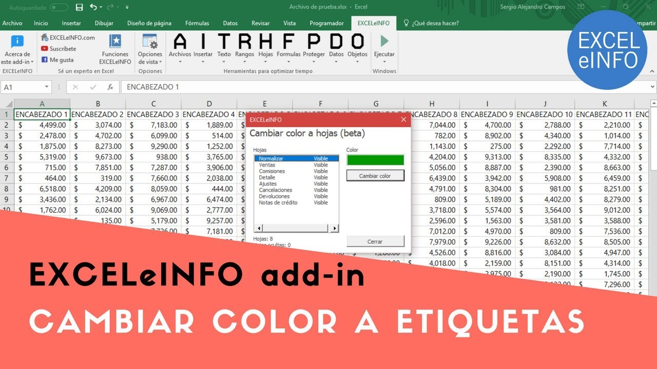 Coloring sheet tabs in excel - Change The Color Of Sheet Tabs In Excel Exceleinfo Add In