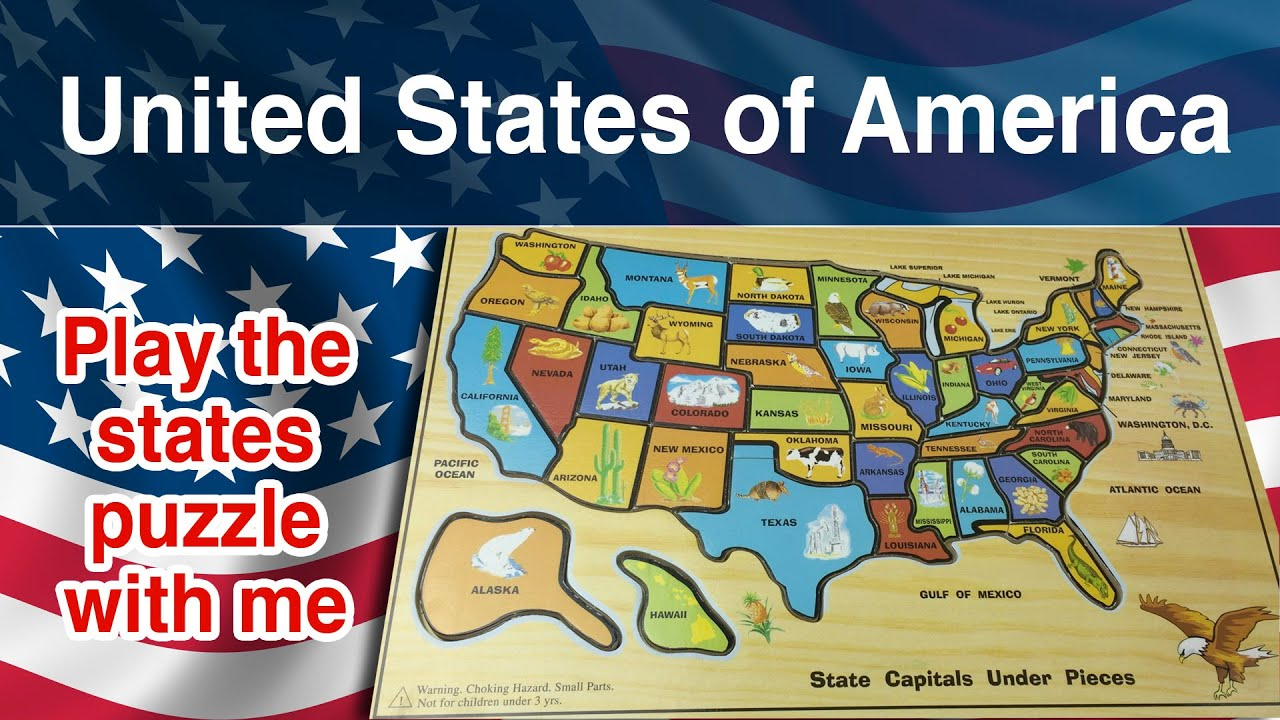 United States Of America Puzzle States Of America Come On - Map of the 50 united states