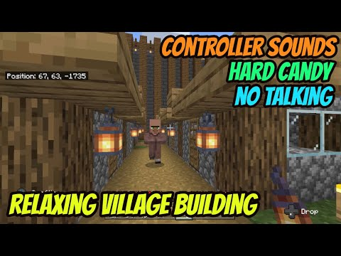 ASMR Gaming: Minecraft | No Talking + Eating Hard Candy - Ep 107. Relaxing Village Building!