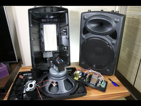 Biggest battery powered portable speaker look inside