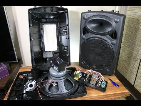 Biggest battery powered portable speaker look inside - YouTube