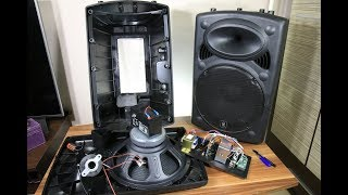 Biggest battery powered portable speaker look inside