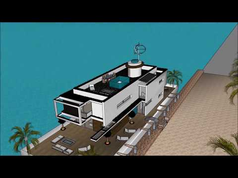 Contemporary Houseboat floating in Marina Buenos Aires ARGENTINA Super Mega Yacht Rental luxury Sanc
