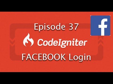 Codeigniter Framework EP 37 Facebook Login with FB api 3.2.3