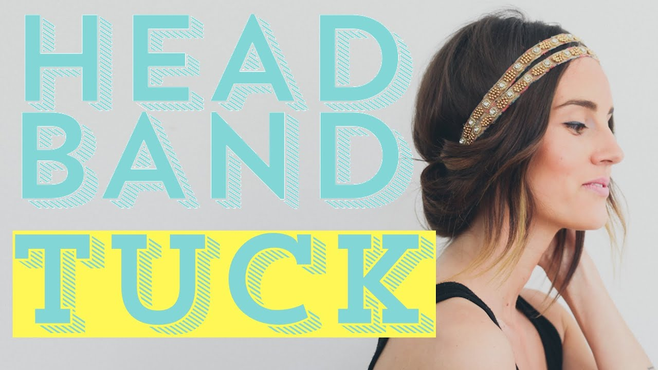 how to style hair with headband easy diy hair style tutorial the headband tuck 9905