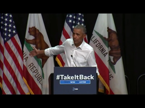 WATCH: Former President Obama speaks at California rally for Democratic candidates