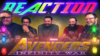 Marvel Studios' Avengers: Infinity War - Official Trailer REACTION!!