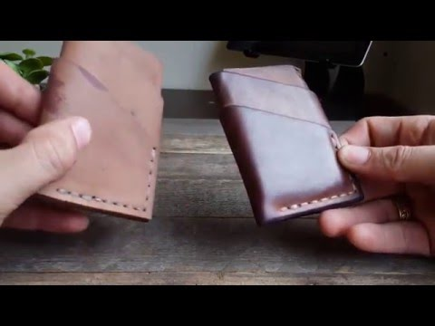 Horween Reversed Shell Cordovan Port Wallet Age Comparison - Craft and Lore