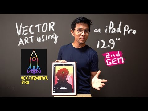 """Vector art on iPad pro 12.9"""" 2nd gen. Let's draw together using Vectornator Pro!"""