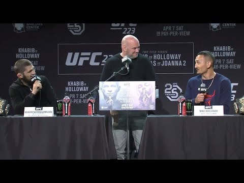 UFC 223: Pre-fight Press Conference / Пресс-конференция перед боем