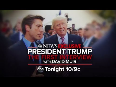 Donald Trump First Interview as President | ABC News