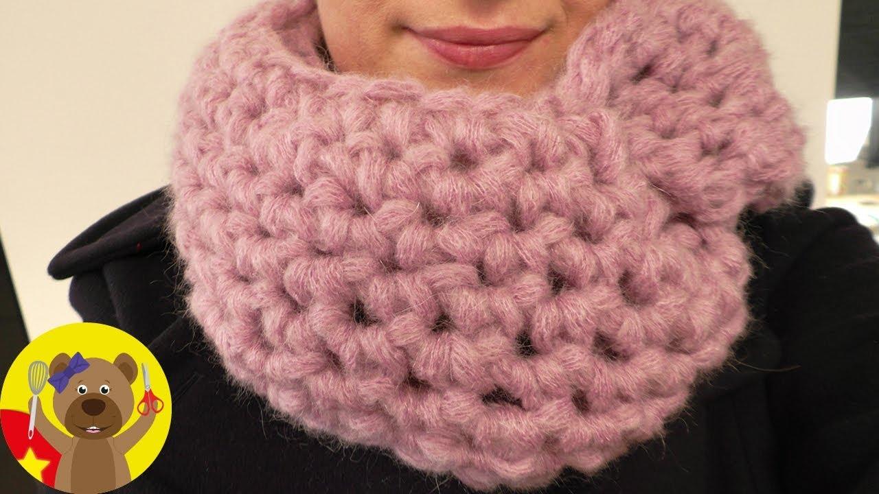 Đan khăn choàng bằng sợi len to cực đơn giản và nhanh chóng