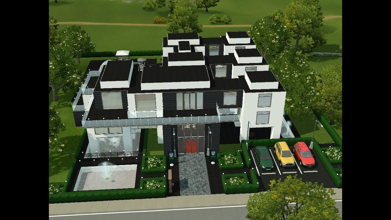 Sims 3 haus bauen let 39 s build modernes studenten for Modernes haus sims 3
