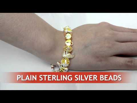 Plain sterling silver beads from ELF925 silver factory, Bangkok