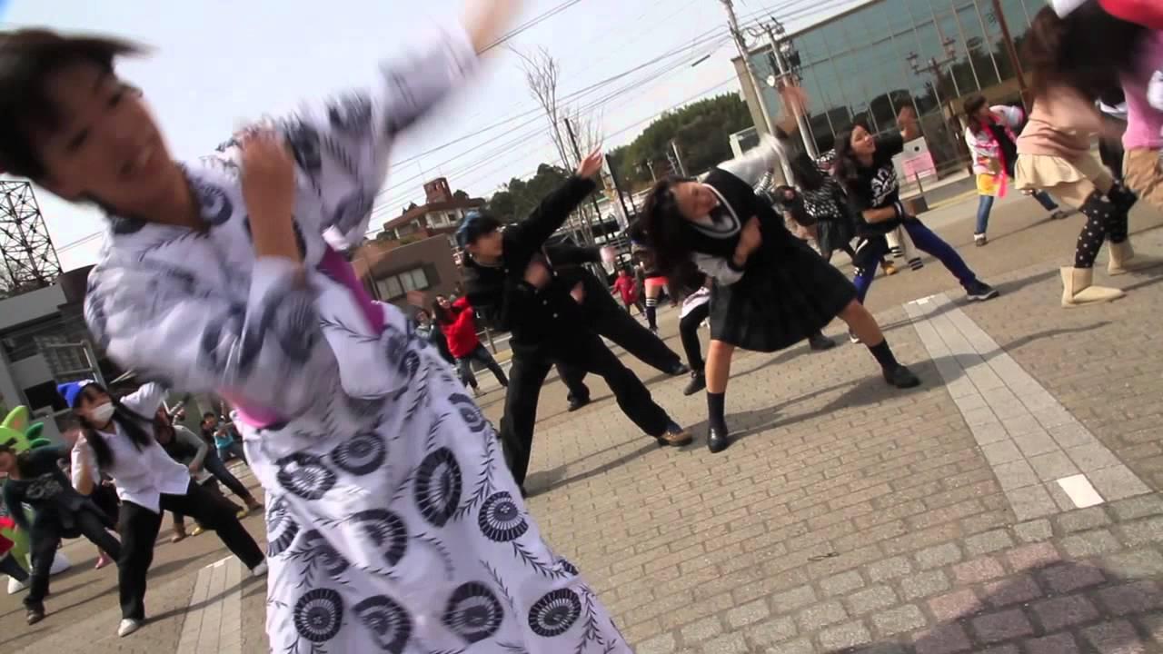 鹿児島県鹿屋市の真ん中でハンヤ節踊ってみた【ハンヤ節×千本桜】