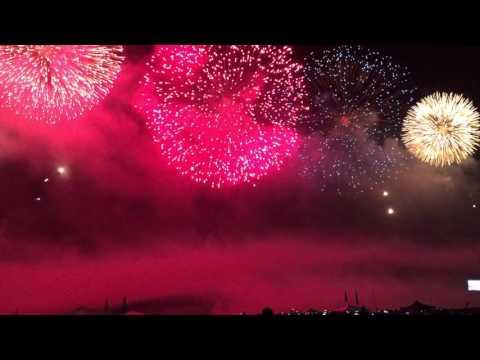 Rio de Janeiro, Copacabana beach fireworks 2016
