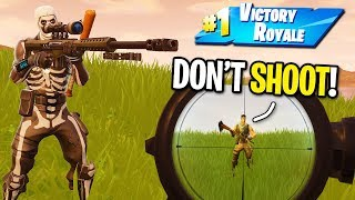 TAKING WINS FROM NOOBS WITH THE NEW HEAVY SNIPER IN FORTNITE! (The Default Skin Destroyer)
