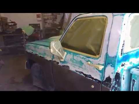 1974 Chevy C10 getting Clear Coat over Patina & Bare Metal Bandit