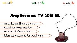 Produktvideo zu Amplicomms TV 2510 NL Induktiver Funk-Kopfhörer mit Toslink Rot
