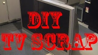 Scrapping a free rear projection TV