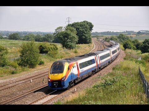 East Midlands Trains Class 222's   'Midlands Mega Variety 2013'