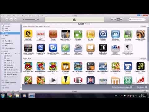 Synchroniser un produit Apple (Ipad) avec Itunes.