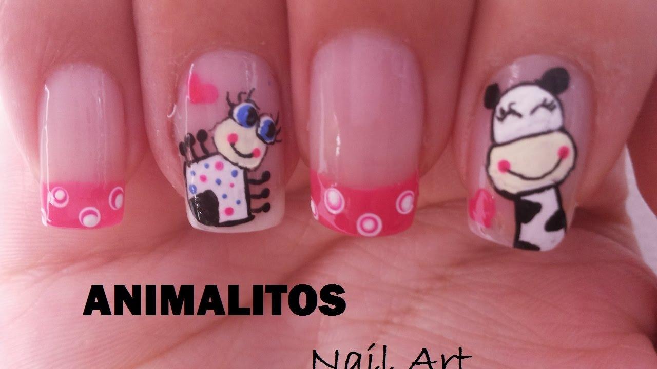 Decoración De Uñas Con Animalitos Animals Nail Art