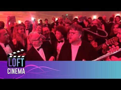 Guillermo del Toro, Alejandro González Iñárritu, Michel Franco con Mariachi en Cannes