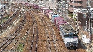 JR貨物 ダイヤ改正前日の72レ貨物列車を加島陸橋で撮影(H31.3.15)