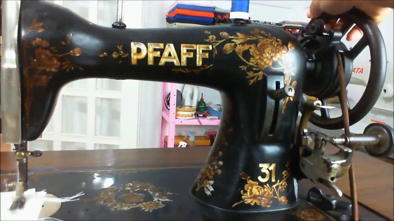 66214db4a Máquina de costura antiga Pfaff