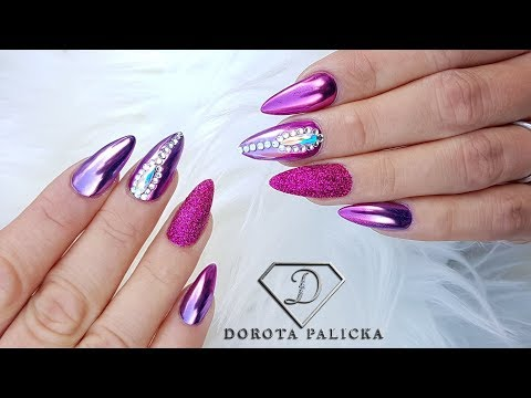 chrome-pigment-ombre-nail-art,-gel-infill,-sugar-nails-with-swarovski-crystals-and-ombre-chrome