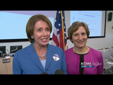 House Minority Leader Nancy Pelosi in Portland