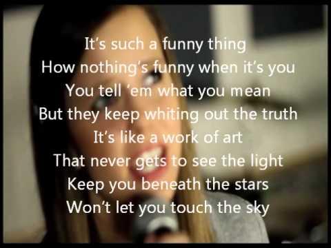 Who Says-Selena Gomez- Megan Nicole and Tiffany Alvord cover lyrics on screen