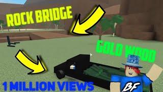 Secret Rock Bridge To Gold Wood! Roblox Lumber Tycoon 2