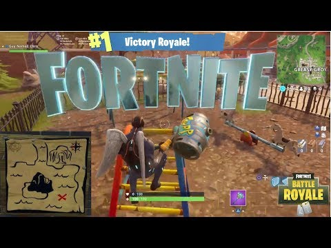 SEARCH FORTNITE LETTERS & TOMATO TOWN TREASURE MAP *SEASON 4* WEEKLY CHALLENGES FORTNITE