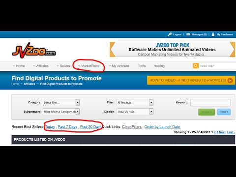 How To Find Best Products To Promote on JVZoo