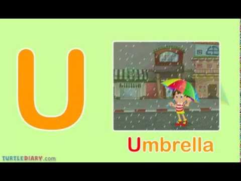 Toddler Words Words Starting With U Youtube