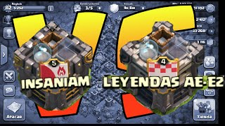 """ATAQUES HÍBRIDOS PERFECTOS!!"" - EPIC WAR! - INSANIAM VS LEYENDAS AE-E2 - CLASH OF CLANS - [REYKOB]"