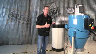 Baileigh Industrial Dc-1450c Cyclone Dust Collector For Woodworking Duct Extraction System