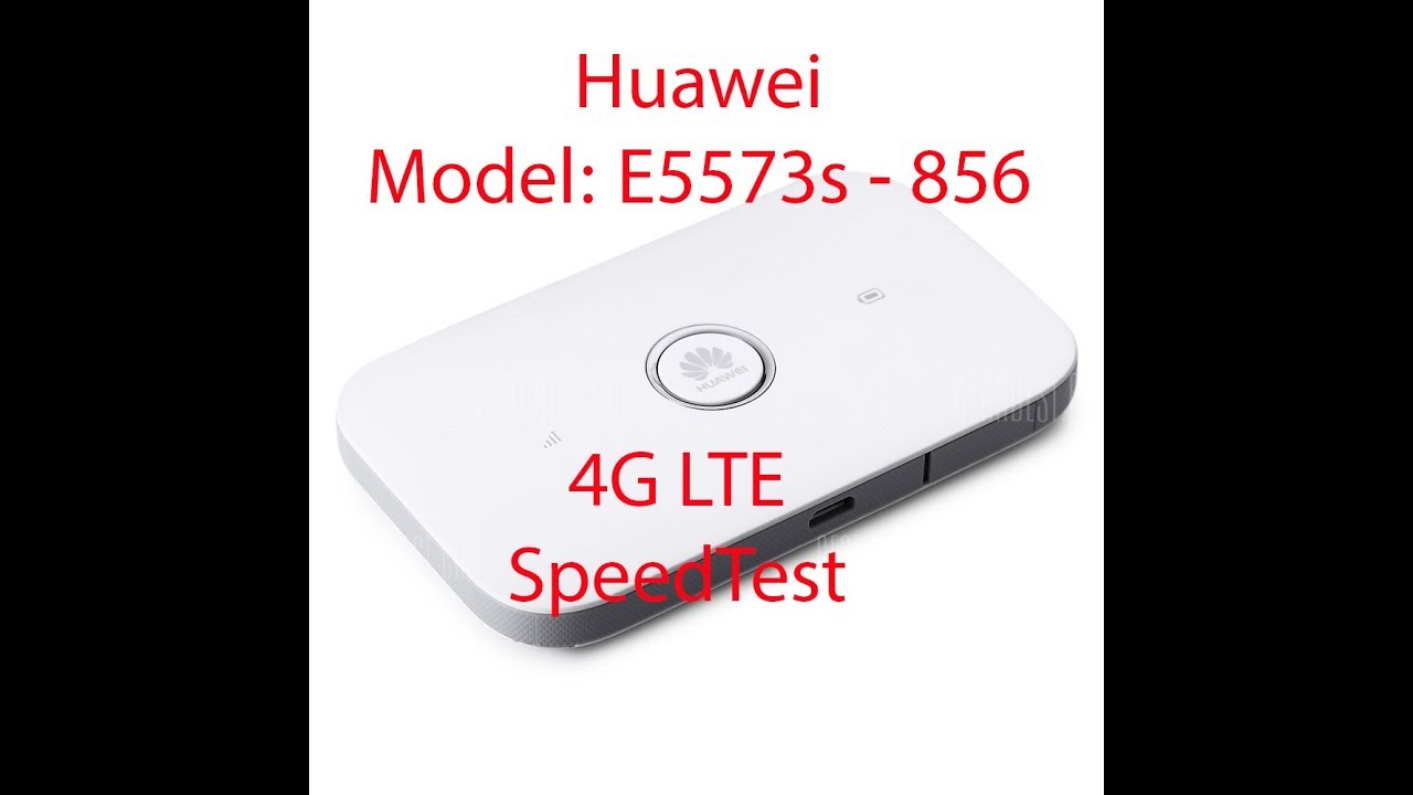 Huawei E5573s 856 4G LTE Speed Test and Web Interface Review