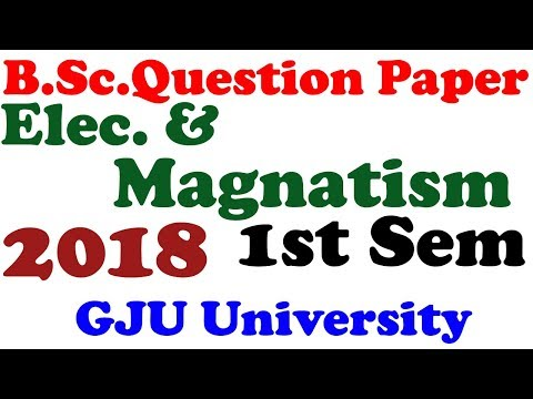 B.Sc Electricity And Magnatism  Question Paper Download HD Image