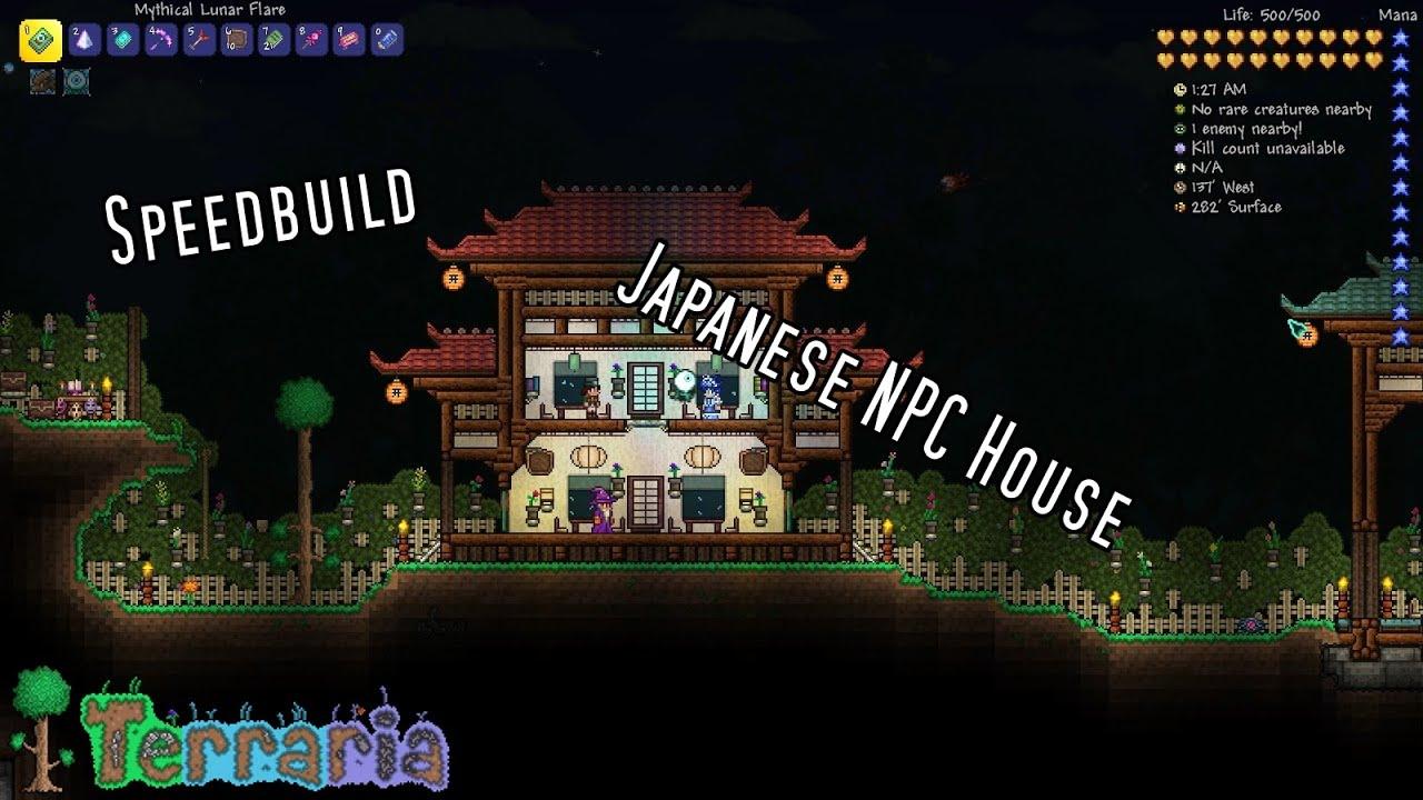 Terraria Japanese NPC House! SPEEDBUILD YouTube