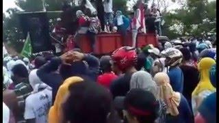 Demo Pembakaran Pesantren Alkhairat Tobelo Di Malut