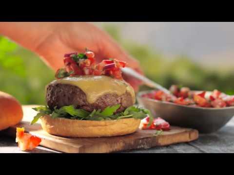 100% Irish Burger with Fresh Tomato Salsa