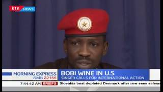 Bobi Wine: I\'m walking with a limb, back bruised, left kidney badly damaged and swollen eyes