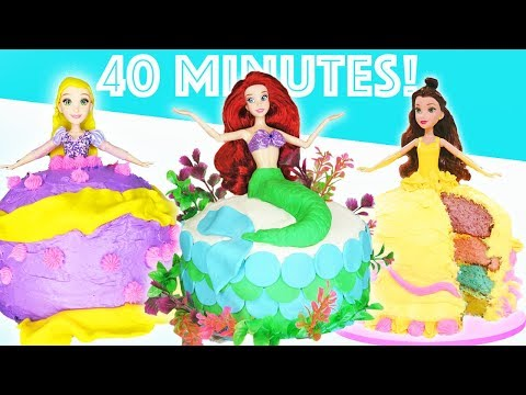 Princess Dress Cake 40 Minute Compilation | How To Make Dessert | Kids Cooking and Crafts