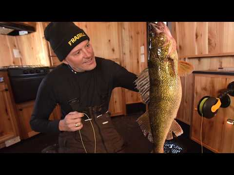 Ice Fishing with the Custom Jigs and Spins Demon